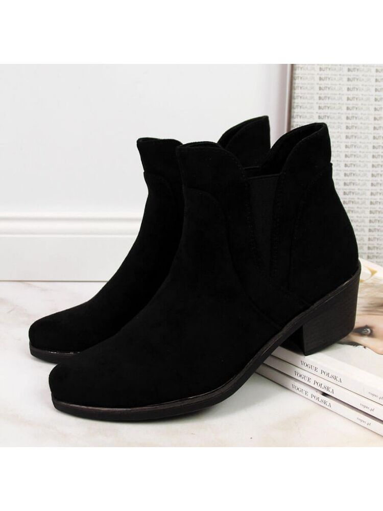 Warm Chelsea boots with high heels Sergio Leone W SK347 black